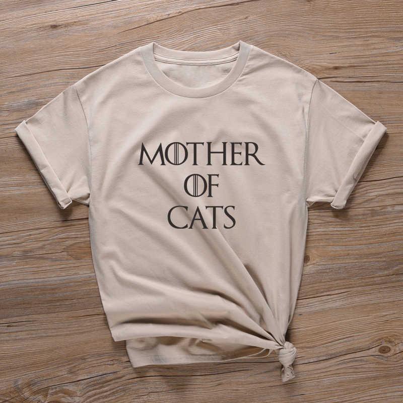 Madre di Gatti T Shirt Regalo di Giorno della Madre Magliette Delle Donne Vegan Slogan T Camicette Streetwear Estetica tshirt Vintage tumblr magliette e camicette Della Camicia