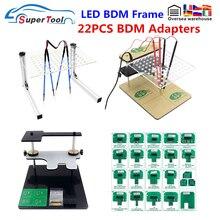 LED BDM מסגרת עבור KTAG קס LED BDM מסגרת עם 22PCS מתאם מלא סטי OBDII ECU Progammer LED BDM מסגרת עם 4pcs בדיקה עטים
