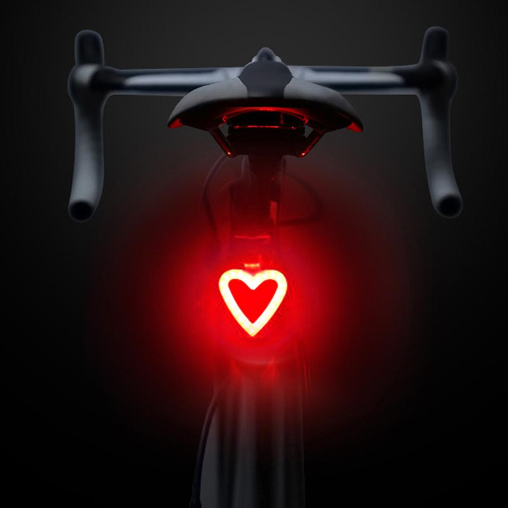 New Novelty Light For Bicycle Light 5 Lighting Modes Bicycle USB Charge Led Light Flash Strobe Rears For Mountain Bike Seatpost
