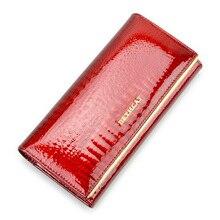 Beth Katze Frauen Aus Echtem Leder Brieftasche Weibliche Haspe Alligator Rindsleder Lange Brieftasche Karten Halter Kupplung Tasche Mode Damen Geldbörsen