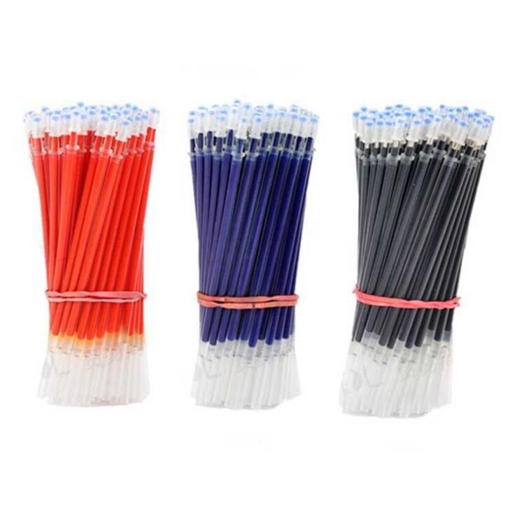 0,5 мм 20 шт./компл. гелевая ручка, сменные стержни, красные, синие, черные чернила, офисные и школьные канцелярские принадлежности для письма, р...