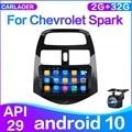Автомагнитола 2 din на Android 10,0 для Chevrolet Spark 2010, 2011, 2012, 2013, 2014, мультимедийный видеоплеер, GPS-навигация, 2 ГБ + 32 ГБ, без dvd