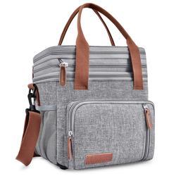 Новая двухслойная сумка-холодильник, портативная упаковка еды для пикника и льда, термо-сумка, автомобильный холодильник, сумки на плечо, ...