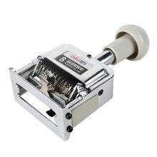 DL Power 7508 อัตโนมัติ 8 หมายเลขคู่มือเครื่องดิจิตอลหมุนแสตมป์หมายเลขขายส่งอุปกรณ์การสอนสำหรับสำนักงาน