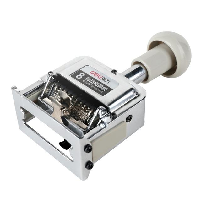 Dl power 7508 máquina automática 8 número manual máquina digital rotação selo numeração whosale equipamentos de ensino para escritório