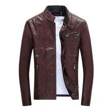 Мужская куртка из ПУ пальто мотоциклетные Искусственная кожа куртка Размеры M-3XL Для мужчин осень Зимняя одежда мужской классический тoлстый бaрхaт вeрх