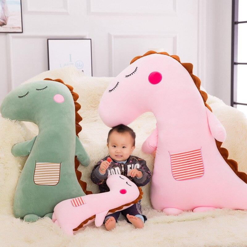 50 70cm kawaii cartoon plush animal shape pillow cushion soft plush toy soft fill dinosaur pillow child birthday gift WJ132 in Movies TV from Toys Hobbies