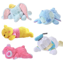 50cm Disney Dumbo Stitch Donald Duck Winnie Sleeping Plush Baby Soft Toy Dolls Stuffed Animals Pillow Gift For Kids