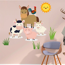 Farm Animals Decals  Wall Decals Baby Nursery Wall Art Stickers For Baby Kids Room Decoration ngk farm stickers