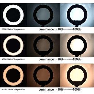 Image 5 - FOSOTO 18 Cal lampa pierścieniowa Led oświetlenie fotograficzne z lampką lampa pierścieniowa lampa wideo ze statywem do aparat telefoniczny do makijażu Youtube