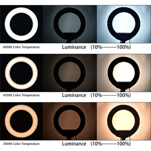 Image 5 - FOSOTO 18 Inch Led Ring light Photographic Lighting Ringlight Ring Lamp Video Light With Tripod For Phone Camera Makeup Youtube