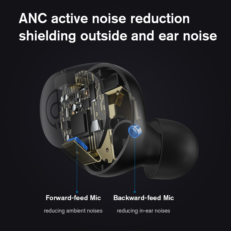 lowest price New Haylou T16 HD call Four Micphone bluetooth earphonesHybrid -35dB Active Noise Reduction Wireless earphonesCCAW Voice Coil