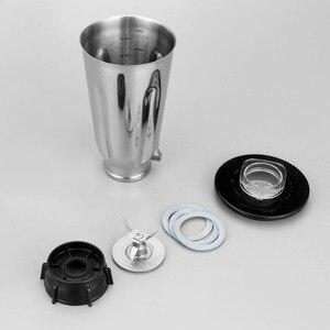 Image 5 - 5 カップステンレス鋼ブレンダー瓶セットフリップトップ蓋抽出ブレード 2 フィットガスケットオスターのためのフィット