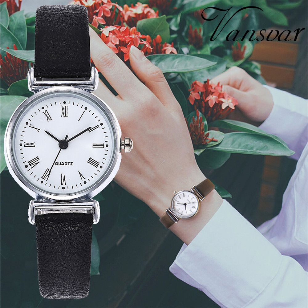 Hot Simple Women Watch Quartz Ladies Watches Female Leather Lady Fashion Relogio Feminino Clock Wristwatch Montre Femme#W