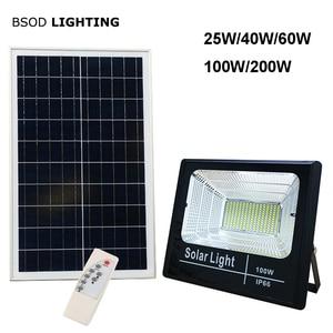 Image 1 - LED 태양 조명 야외 투광 조명등 태양 전원 25W 40W 60W 100W 200W BSOD 스포트라이트 정원 거리 차고에 대한 백색 조명