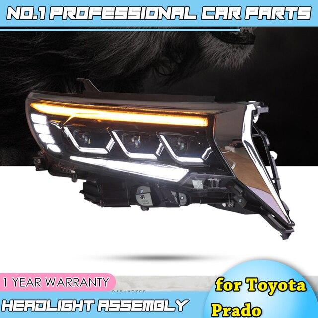 도요타 프라도에 대한 자동차 액세서리 전체 헤드 라이트 2018 새로운 프라도 전체 LED 헤드 라이트 LED 헤드 램프 DRL 낮은 높은 빔 모든 Bi LED