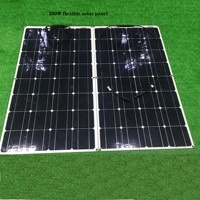 RG 200W 400w flexible solar panel kit 100 watt for Home,Yacht, RV,Caravan, Cabin, Boat and 12v Battery Charger