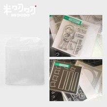 10 pcs 작은 우표 및 커팅 다이 스토리지 주최자 포켓 PVC 클리어 슬리브 다이 케이스 리필 키트 스크랩북 액세서리