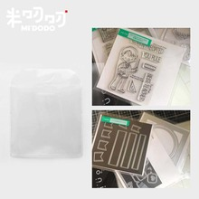 10 pcs Small Stamps and Cutting Dies Storage Organizer Pocket with PVC Clear Sleeves Die Case Refill Kit Scrapbook Accessories