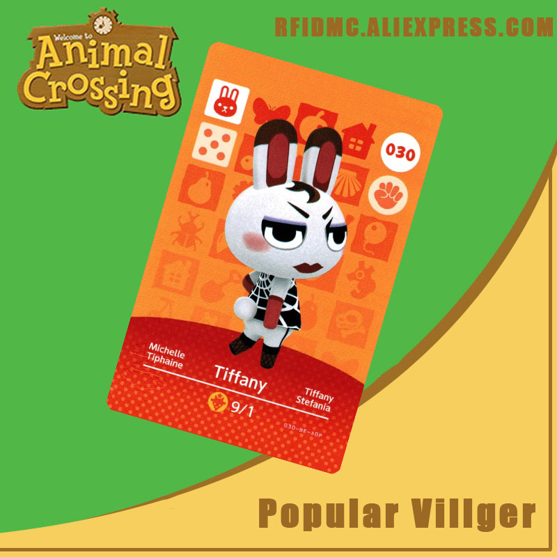 030 Tiffany Animal Crossing Card Amiibo For New Horizons