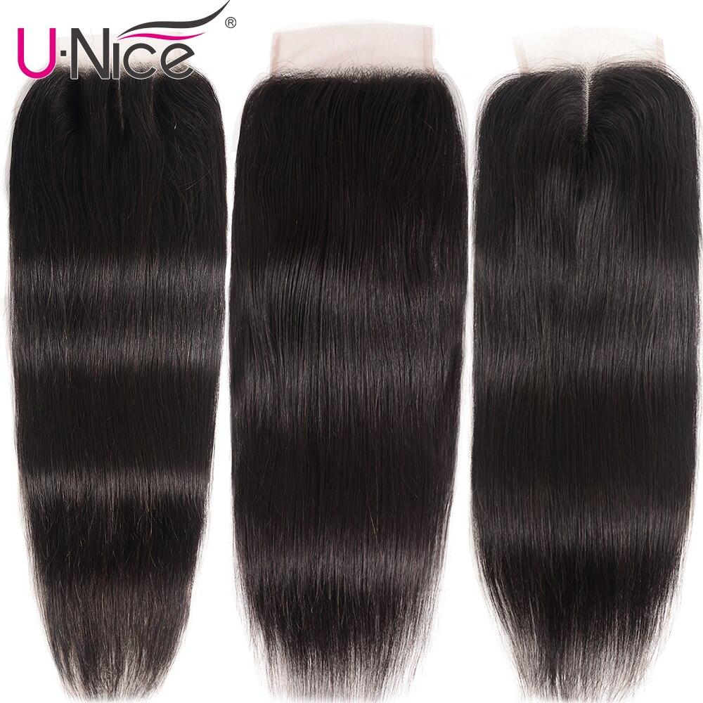 H1a3475c45a484da2b435030b85de1535o UNice Hair Transparent Lace With Closure 8-30 Malaysian Straight Hair 3 Bundles with Closure Remy Human Hair Extension Bundles