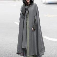 Manteau à capuche ouvert pour femmes, en vrac, solide, Long, Cosplay, vêtements d'extérieur, décontracté, noël, hiver, 483 #