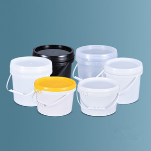 Image 5 - Empty 5L Plastic Bucket with Handle and Lid Leakproof Liquid storage container BPA Free PP pail 2PCS/lot