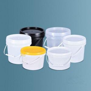 Image 5 - Seau vide en plastique 5L, avec poignée et couvercle, conteneur de stockage de liquides étanche, sans BPA, seau en PP, lot de 2 pièces