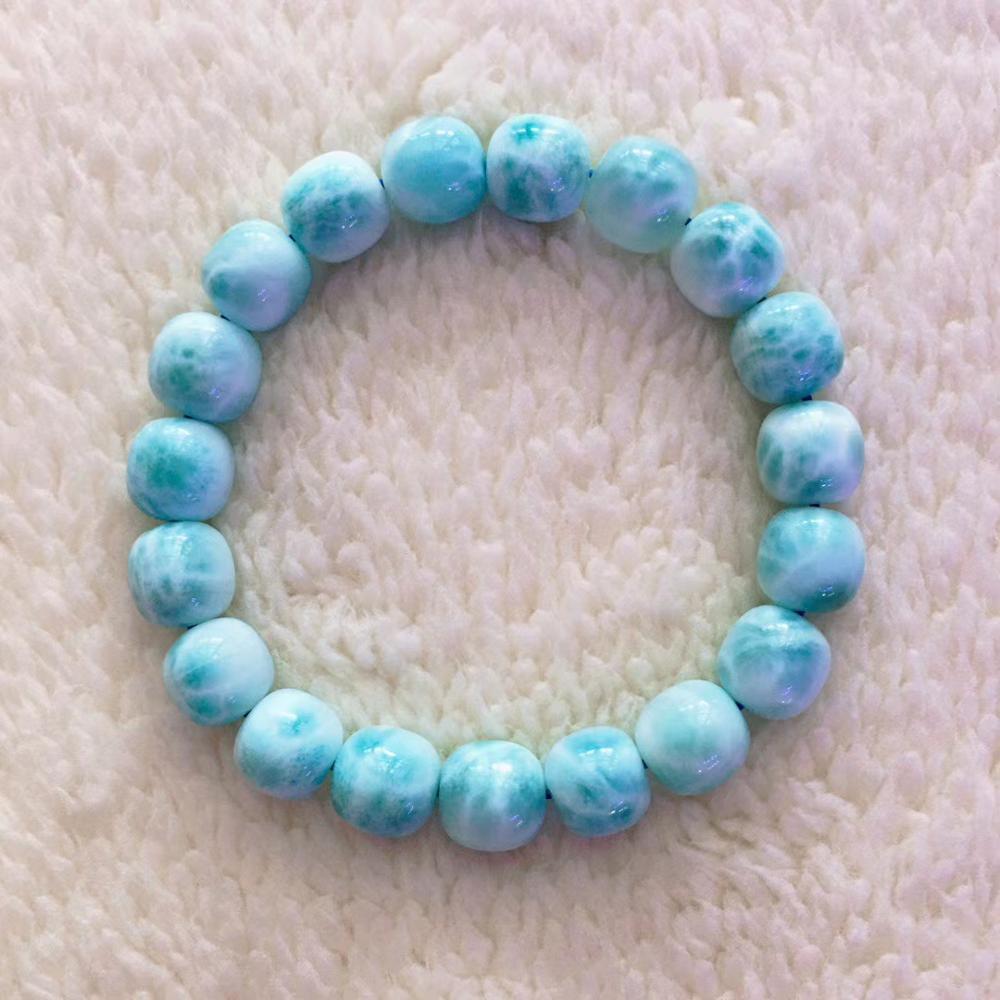 10mm Blue Turquoise Stretch Bracelet