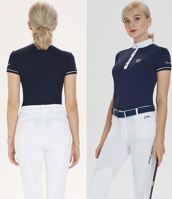 Women's Short Sleeved Equestrian Riding Shirt   4