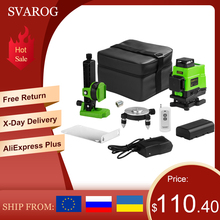3D 4D green laser level 12 16 lines 360 Vertical And Horizontal Lines Self-leveling Cross