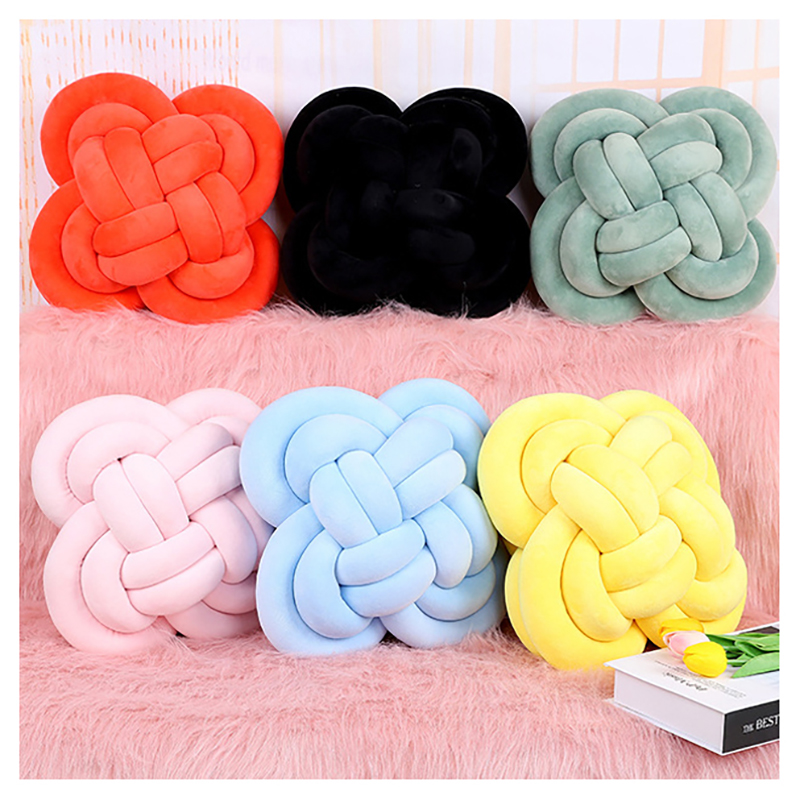 Crib Bumper Knot Pillows Baby Crib Bumpers Cushion Cuddle Pillow Weaving Protection Around Cushion Accessories YYJ006
