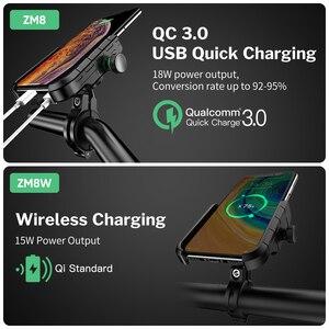 Image 2 - Deelife motocicleta suporte do telefone móvel com carregador usb qc 3.0 para moto espelho gps suporte de montagem do telefone celular suporte