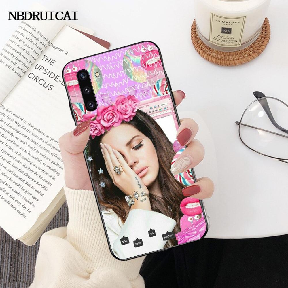 NBDRUICAI Эстетическая Лана Дель Рей красивая девушка черный ТПУ мягкий резиновый чехол для телефона Samsung Note 3 4 5 7 8 9 10 pro M10 20 30