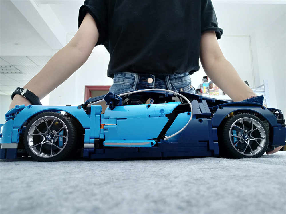 MOC 42083 Bugatti Chiron Technic Race Car APP RC Motor Compatible Iegoset 20086 Bricks Building Blocks Toys Christmas Gifts