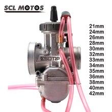 Карбюратор PWK SCL для мотоцикла, запчасть для двигателя Keihin 2T 4T, 21 24 26 28 30 32 33 34 35 36 38 40 42 мм