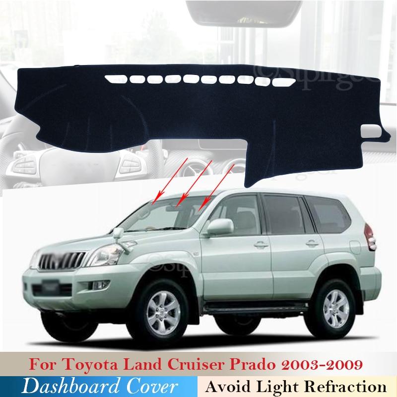 Крышка приборной панели Защитная Накладка для Toyota Land Cruiser Prado J120 120 2003 ~ 2009 автомобильные аксессуары приборная панель коврик от солнца 2008