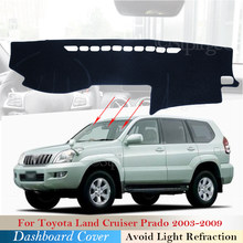 Capa de painel almofada protetora para toyota land cruiser prado j120 120 2003 ~ 2009 acessórios do carro traço placa pára-sol tapete 2008