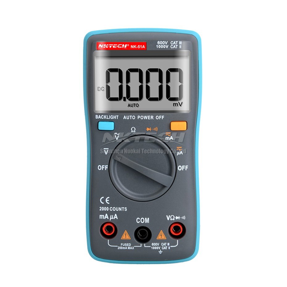 Multimetro digitale NKTECH MINI LCD Pocket NK-51A NK-51B NK-51C - Strumenti di misura - Fotografia 2