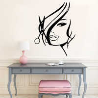 Luxuriant Hair Salon Wall Sticker For Barber Room Vinyl Stickers Haircut Mural Poster Wall Decals Art Decal