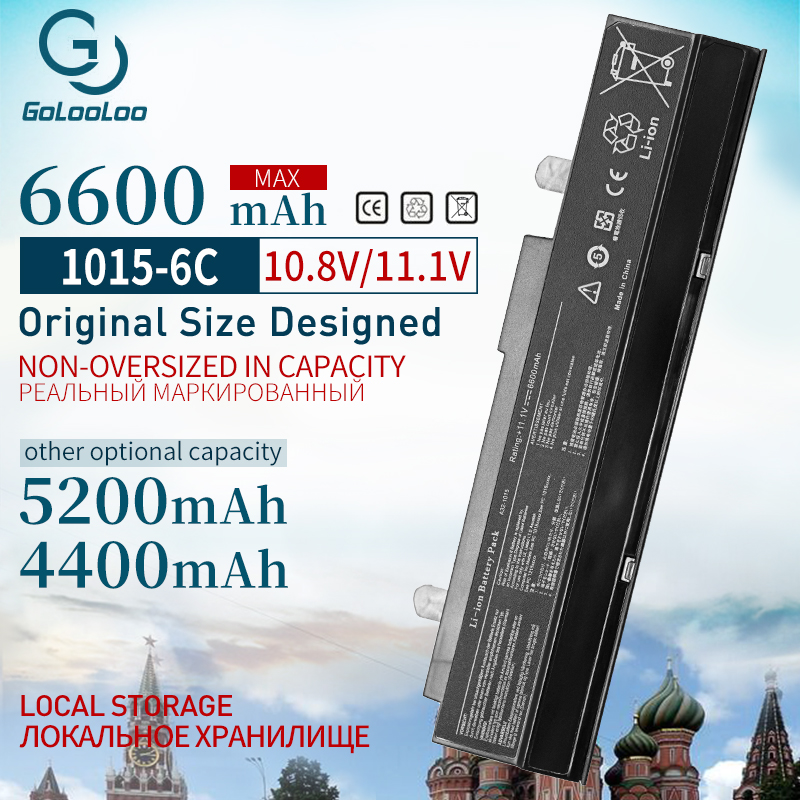 4400mAh 6 Cells Laptop Battery For Asus <font><b>A32</b></font>-<font><b>1015</b></font> A31-<font><b>1015</b></font> AL31-<font><b>1015</b></font> for Eee PC 1015PDT 1015P 1215 1215B 1215N 1015b <font><b>1015</b></font> 1015bx image
