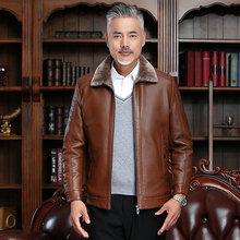 Stylish Men PU Leather Bomber Jackets Black Brown Kahki Faux Leather Outwear For Man Thicken Fleece Viscose Liner Short Coat 4XL все цены