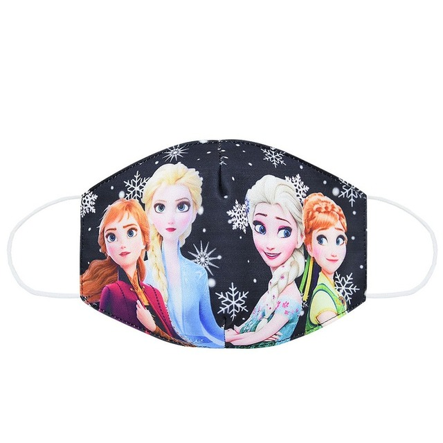 2020 New CartoonDisney Frozen Dust Washable Masks Breath Anti-Dust Pollution Face Mouth Mask Breathable For Children Kid Adult 3