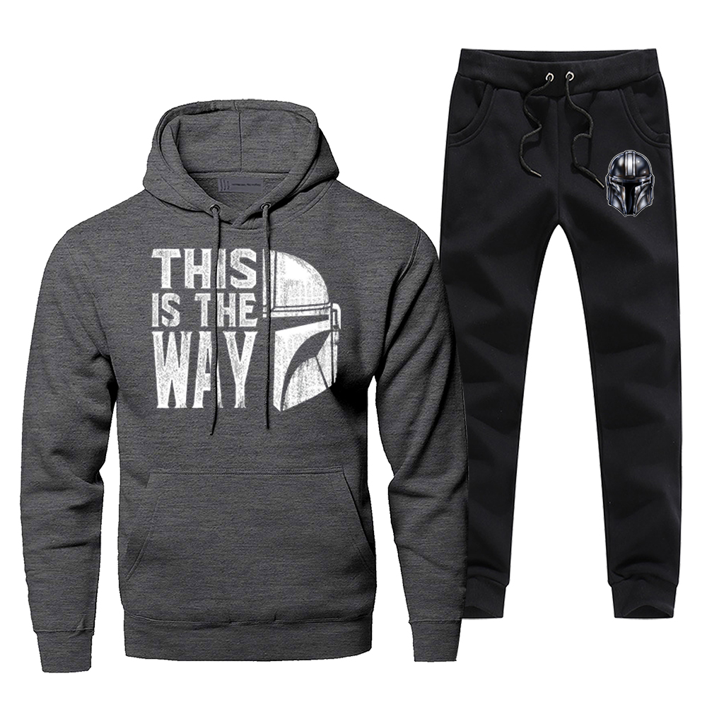 Star Wars This Is The Way Men's Sportswear Sets The Mandalorian Tracksuit 2 Piece Sweatshirt + Sweatpants 2020 Spring Men Suits