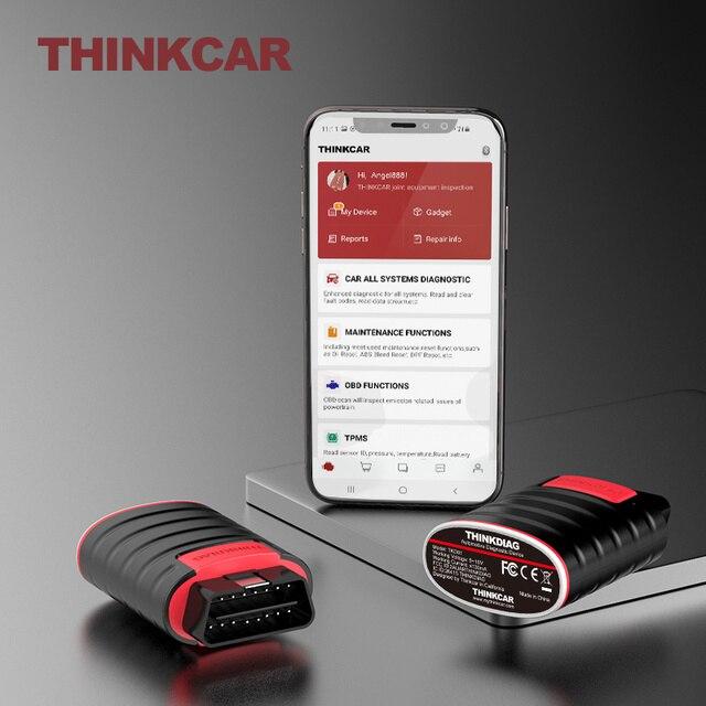Thinkcar thinkdiag Obd2すべて車無料アップデート診断ツールbluetoothコードリーダープログラマー自動スキャナ15リセットecuコーディング