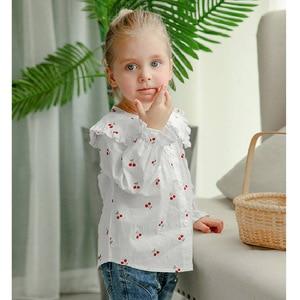 Image 3 - VFOCHI 2020 New Girls Blouse Kids Tops Ruffled Collar Girls Long Sleeve Shirt Children Wedding Clothing Baby Girl Top Tee Shirts