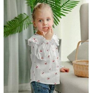 Image 3 - VFOCHI 2020 สาวใหม่เสื้อเด็กเสื้อ Ruffled ปลอกคอหญิงเสื้อแขนยาวสำหรับเด็กเสื้อผ้าเด็กสาว TOP TEE เสื้อ