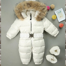 Winter Snowsuit 2019 Boy Baby Jacket 80% Duck Down Outdoor Infant Clothes Girls Climbing For Boys Kids Jumpsuit 2~5y стоимость