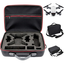 Anordsem Portable EVA Hard Bag Storage Case Carry Drone Bags Shoulder Strap Drone Accessories for DJI Spark Drone Mount Box