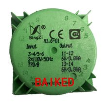 BingZi M 1,6-01 2 Eingang Ausgang 110 v, 50 Hz Zwei Road 6 v 0,8 VA 1,6 VA Power Transformator